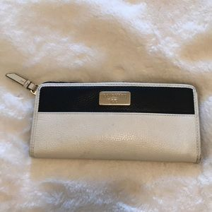 Cole Haan white and black slim wallet